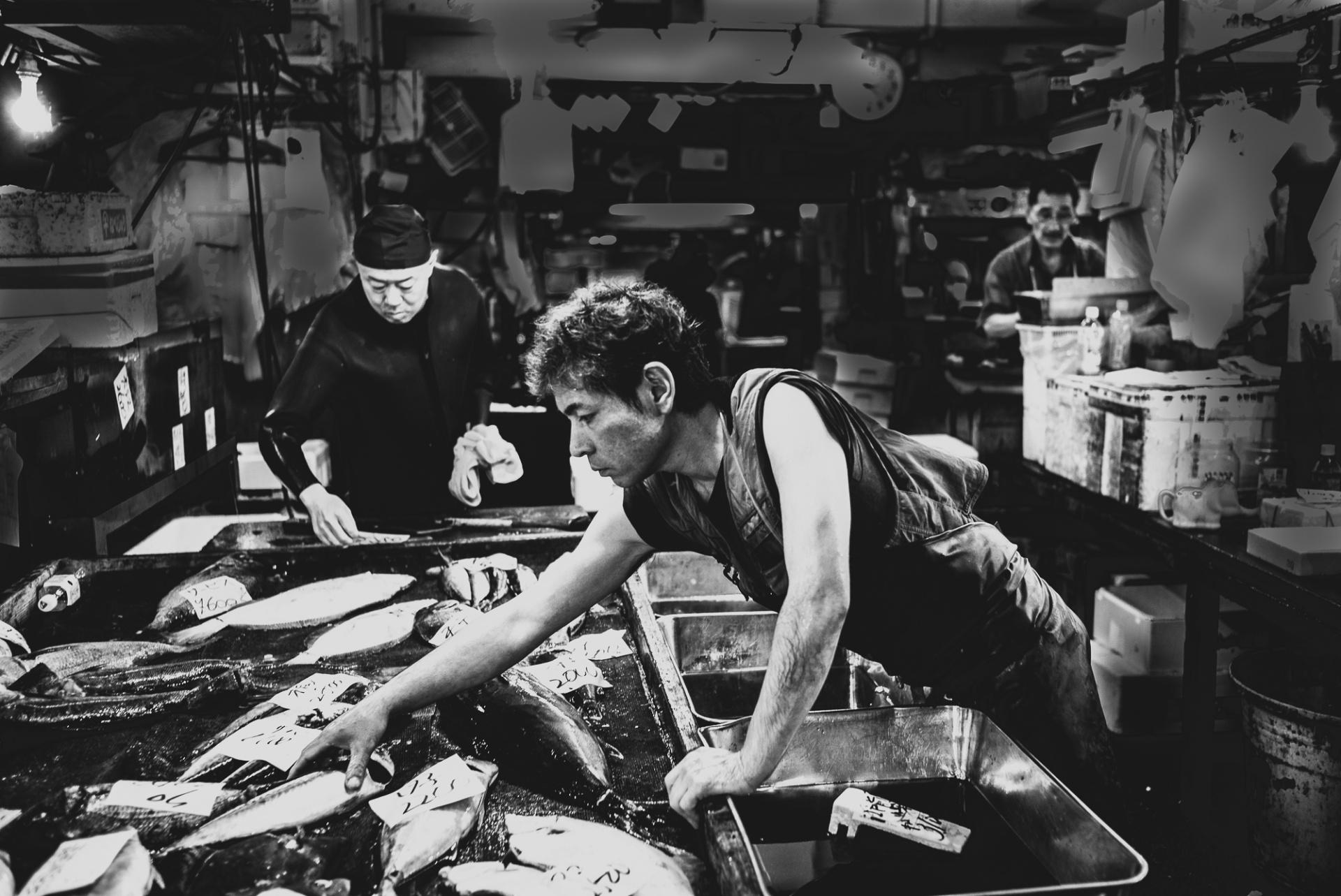 L'antico mercato ittico di Tsukiji a Tokyo, L'antico mercato ittico di Tsukiji a Tokyo